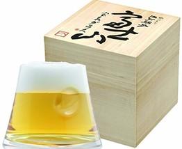 Japanese Edo Kiriko glass Beer Tea Sake cup handcraft Mt.Fuji made in japan - $69.20
