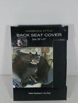 """Hammock Style Back Seat Cover Black 55"""" By 57"""" Water Resistant For Pets ... - $24.64"""