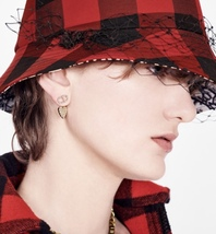 AUTH Christian Dior 2019 CLAIR D LUNE CD CRYSTAL LOGO HEART DANGLE STAR Earrings image 2