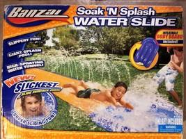 Banzai Soak 'N Splash Water Slide - New / Sealed - $21.58