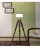 NAUTICALMART DESIGNER SHINY FINISH TEAK WOOD TRIPOD FLOOR LAMP - $296.01