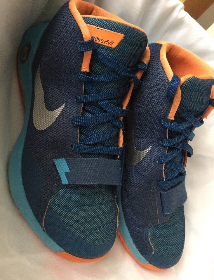 best website 213cd 973f9 S l1600. S l1600. Previous. Mens Nike KD Trey 5 III Basketball Shoes Size  8.5 Blue Orange Silver ...