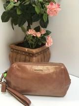 Coach Wristlet Madison Soft Leather Large Clutch Bag Rose Gold 49997 B25 - $98.95
