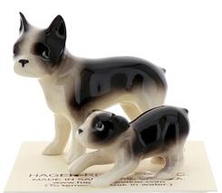 Hagen-Renaker Miniature Ceramic Dog Figurine Boston Terrier & Boston Terrier Pup image 4