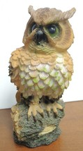 "Vintage 8 1/2"" Tall Owl With Green Eyes - $6.23"