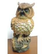 """Vintage 8 1/2"""" Tall Owl With Green Eyes - $8.90"""