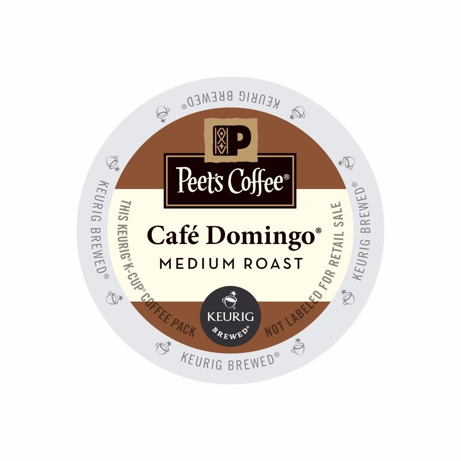 Peet's Coffee Cafe Domingo Coffee, 88 count K cups, FREE SHIPPING !