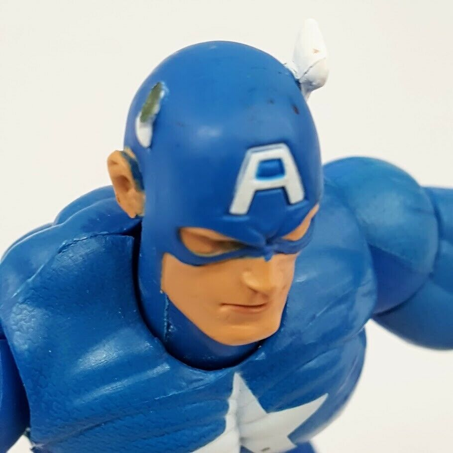 "Marvel Legends CAPTAIN AMERICA Series 1 ToyBiz 6"" Action Figure Loose 2002 Loose"
