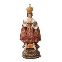 Infant Jesus Of Prague Sculpture In Vivid Colors Miraculous Power Saint Teresa - $43.55