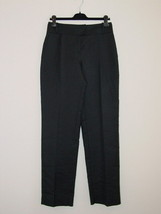 New GIORGIO ARMANI Black Cotton Silk Front Tab Pants 40/6 - $145.49