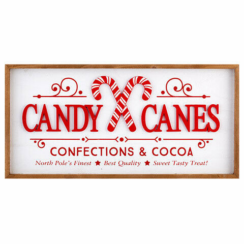 Primary image for Darice Christmas Candy Cane Wall Sign: 24 x 11.5 inches w