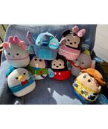 8 Disney SQUISHMALLOWS Stitch Woody Buzz Dumbo Mickey Minnie Donald Mari... - $119.99