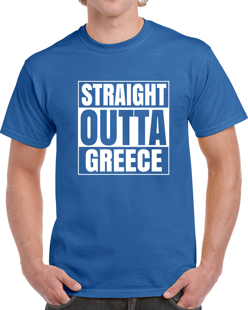 Primary image for Straight Outta Greece Hip Hop Cool Country T Shirt