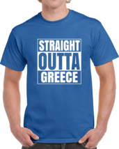 Straight Outta Greece Hip Hop Cool Country T Shirt - $19.99