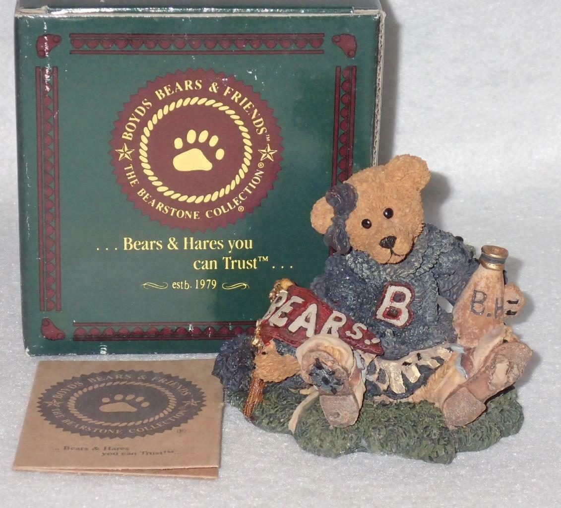 Boyd Bearstone Resin Bears 1995 Bailey The Cheerleader Figurine #2268 31E NEW image 3