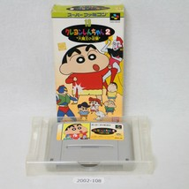 Nintendo SNES CRAYON SHINCHAN 2 Boxed Working SFC Games 2002-108 - $12.60