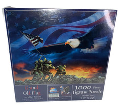 """NEW Grand Old Flag by Ray Simon 1000 Piece Jigsaw Puzzle SunsOut 20""""X27""""... - $19.79"""