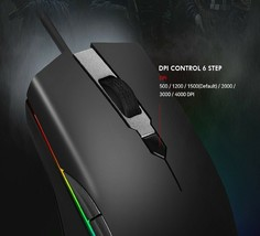 Geekstar GM900 3325 Wired Gaming Mouse 6-Step DPI Weight Switch (Black) image 2