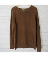 Columbia Sweater Mens XL Brown V Neck D36 - $27.88