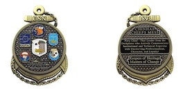 "NAVY CHINHAE CHIEFS MESS ANCHOR 3"" MEDALLION CHALLENGE COIN - $22.55"