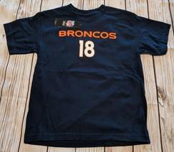 LZ NFL Team Apparel Boy's Medium 10/12 Denver Broncos T-Shirt Tee Shirt ... - $9.49
