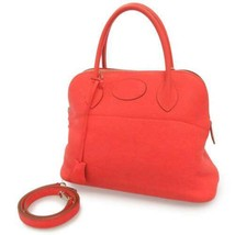 HERMES Bolide 31 Taurillon Clemence Rose Jaipur 2Way Handbag France #R A... - $5,362.80