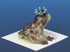 Birthstone Frog Prince Kissing May Emerald Miniatures by Hagen-Renaker image 3