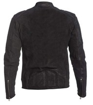 Mens Antique Motorcycle Cafe Racer Rider Black Biker Leather Jacket image 4
