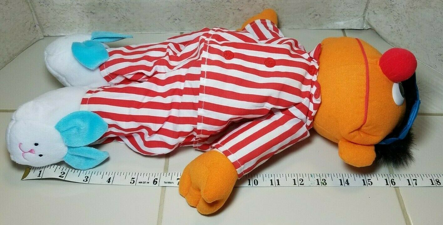 "TYCO Sesame Street Sleep And Snore Ernie 1996 Plush Doll 18"" Jim Henson Muppet image 8"