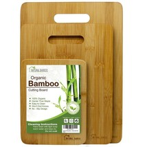 NEW 3 Pack Organic Bamboo Cutting Boards Natural Anti-bacterial Gift Set... - $28.41 CAD