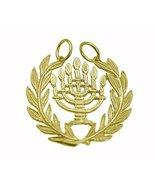 New Symbol Jewish People & State of Israel 7 branch menorah 24K Gold Pla... - $25.74