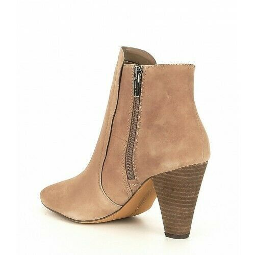 Women Vince Camuto Rotiena Suede Laser Cut Booties, Multi Sizes Wild Mushroom VC image 4