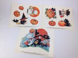 3pc Lot Ruth Morehead Teenie Halloweenies Window Decal Cling Ghost Hallo... - $18.71