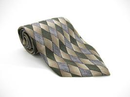 Pierre Cardin Silk Mulicolor Geometric Pattern Tie Made In Usa - $5.99