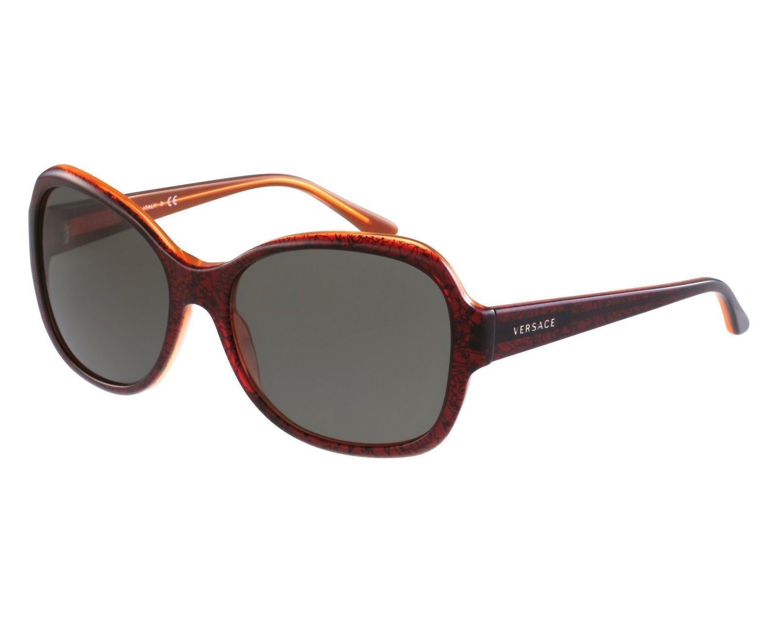 9eca5cc3c2f40 Versace mod. 4259 5089 73 Baroque Bordeaux Transparent   Brown Sunglasses -  47 - ₨6