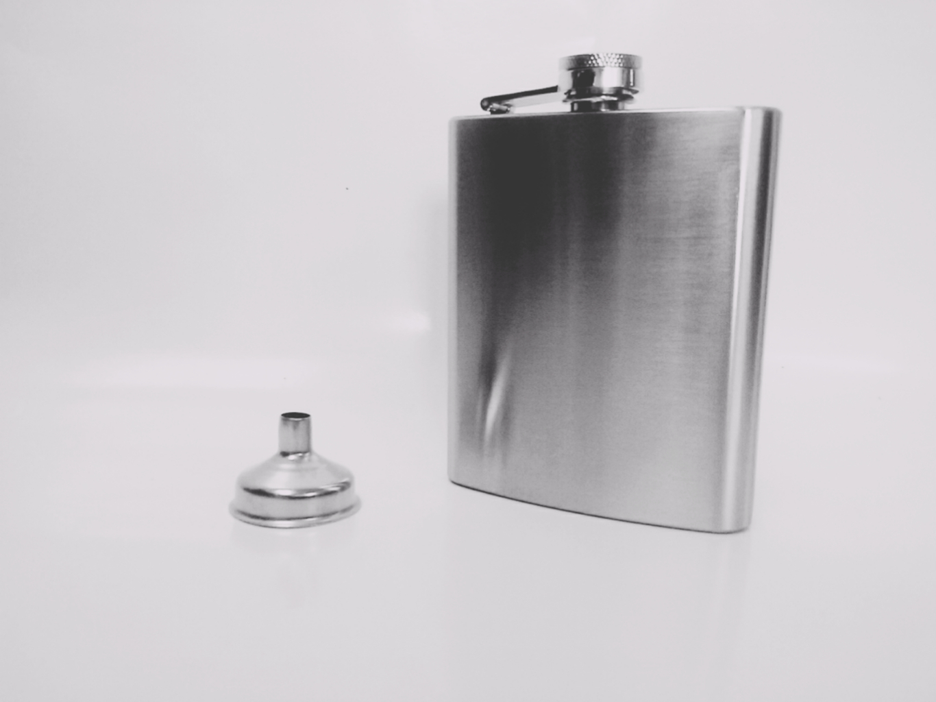 7 oz Stainless Steel Hip Flask with Funnel - $5.27