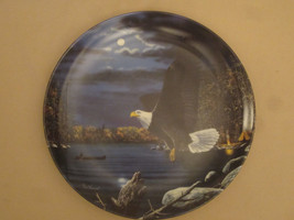 BALD EAGLE collector plate MIDNIGHT DUTY Jim Hansel CAMPING Wildlife - $31.20