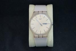 Original Working Quartz Watch Swatch SUOT700 Rose Rebel 41 mm - $30.49
