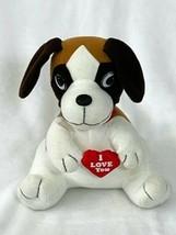 "MTY International Plush Dog Beagle Valentine's Day Vintage 8"" Stuffed Va... - $14.82"
