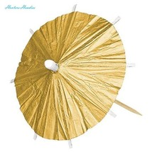 """Party Fun Classic Parasol Pick , Gold, Paper , 4"""" x 4"""", Pack of 120 - £13.53 GBP"""