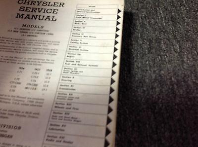 1958 CHRYSLER IMPERIAL Service Shop Repair Manual Set NEW FACTORY REPRINT