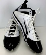 Mens Size 15 Nike Air Max Baseball Cleats Navy Blue & White Inner Lining... - $49.49