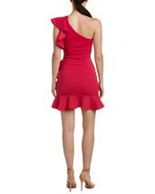 Just Me Women Fuchsia Ruffle One-Shoulder Social Dress image 2