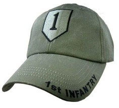 US ARMY 1ST INFANTRY - U.S. Army OD Green Military Baseball Cap Hat - $23.95