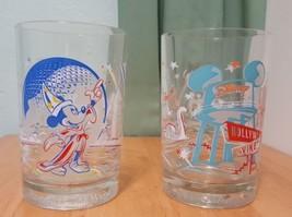 Lot 2 WALT DISNEY WORLD Epcot Hollywood studios Remember the Magic Glasses Cups - $14.93