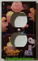Peanuts Snoopy friends movie theater Light Switch Power Outlet wall Cover Plate image 2
