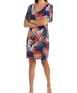New Women's Tommy Bahama Dubarry Coral Fireworks Fronds Short Sleeve Dre... - £31.34 GBP