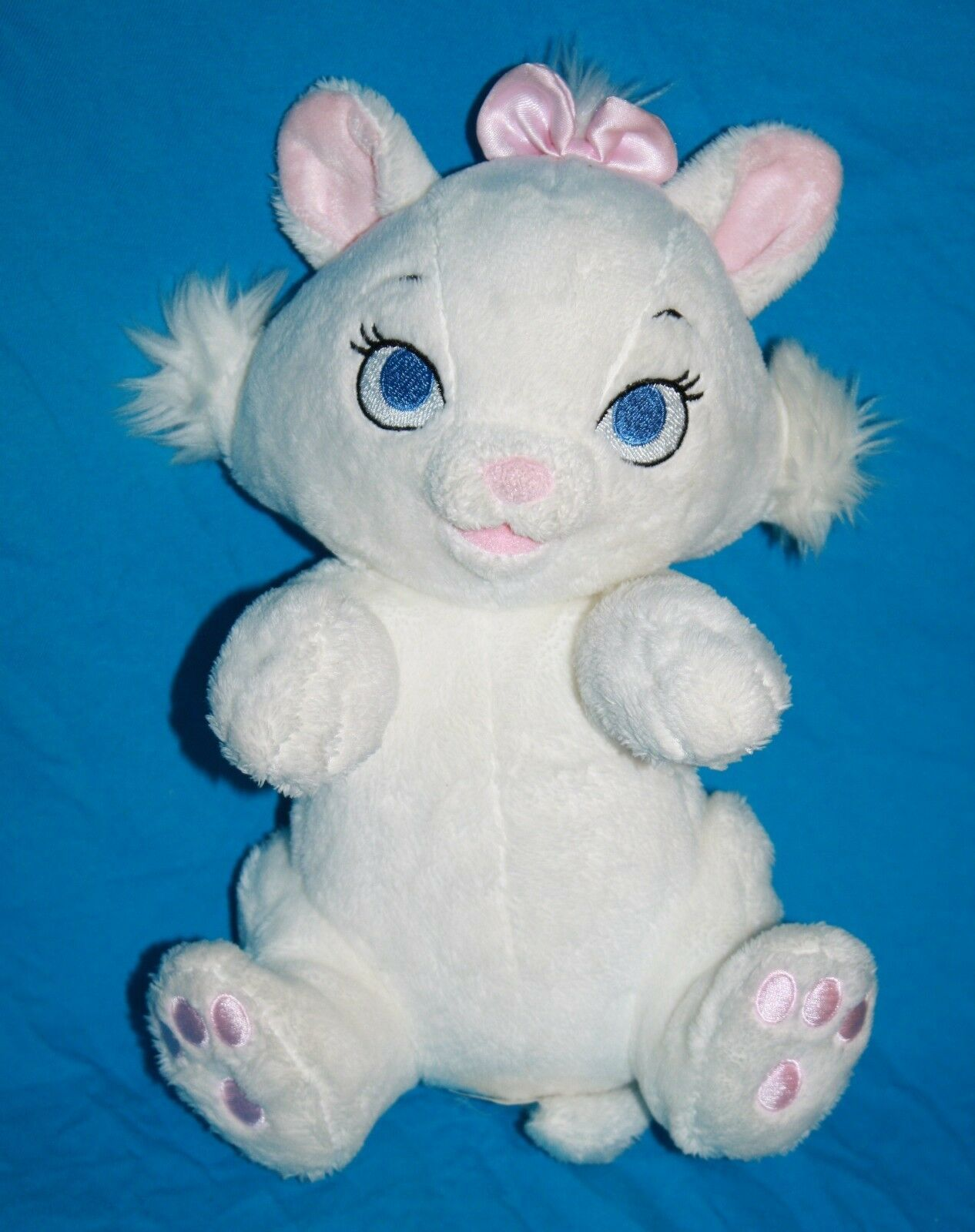 "Aristocats Disney Babies MARIE 9"" White Plush CAT Soft Baby Kitten No Blanket"