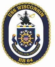 USS Wisconsin Sticker Military Armed Forces Navy Decal M220 - $1.45+