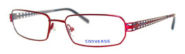 Converse Ophthalmic Eyeglass Unisex Soft Rectangle Metal Frame Denial Red - $35.99